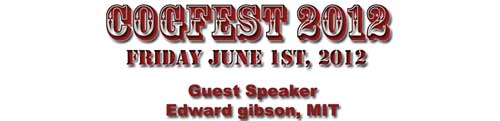 COGFEST 2012 Banner advertising Guest Speaker: Edward Gibson