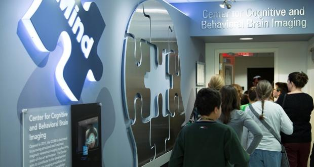 Students enter the CCBBI for a facilities tour