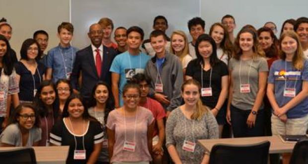 Scholars with OSUPresident Drake