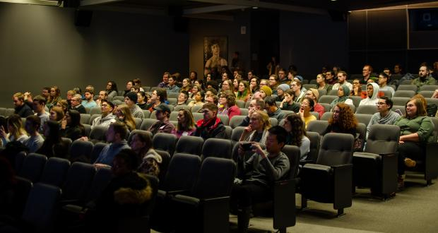 CogFest 2020 Audience members await the start of the film